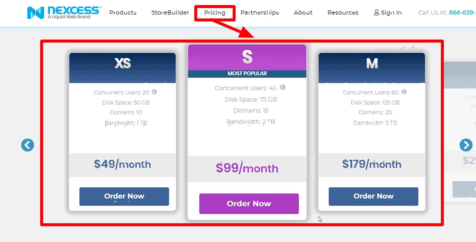 Nexcess Pricing- Nexcess Vs Kinsta