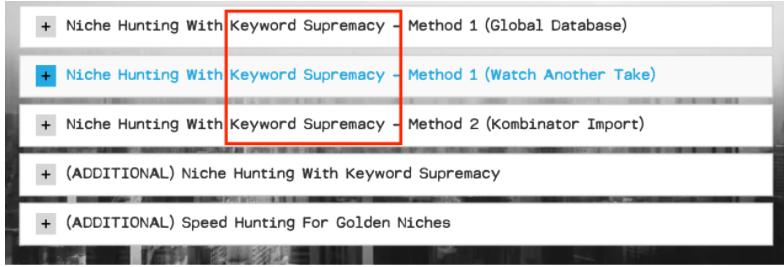 Keyword Supermacy