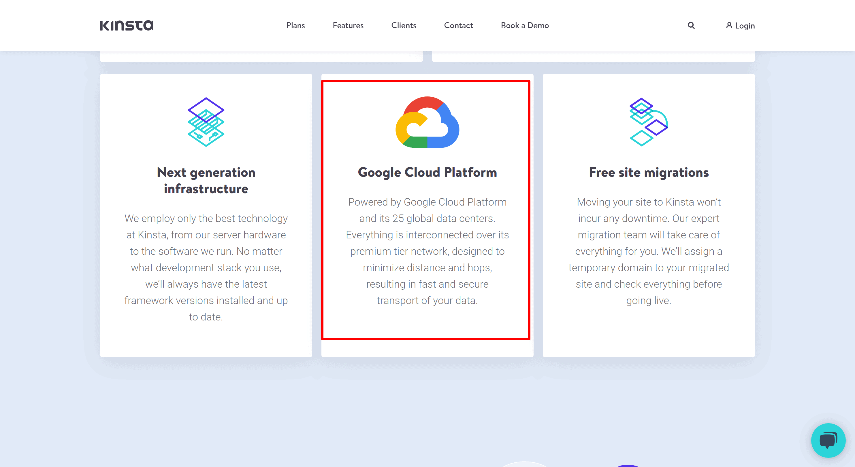 Kinsta cloud platform featiues