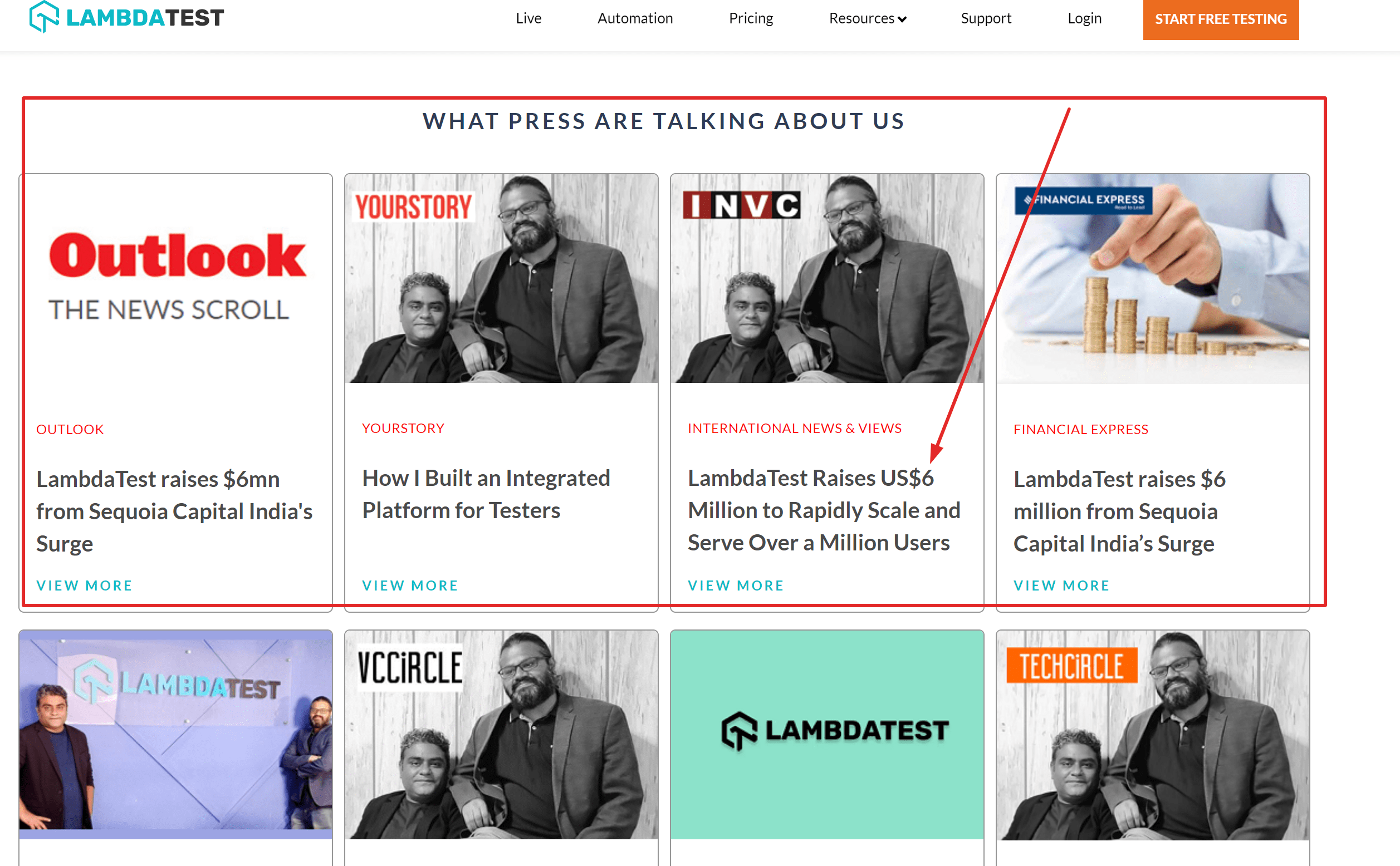 Lambdatest branding news