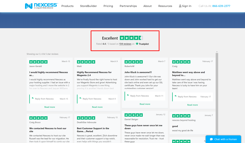Nexcess hosting- nexcess customer reviews