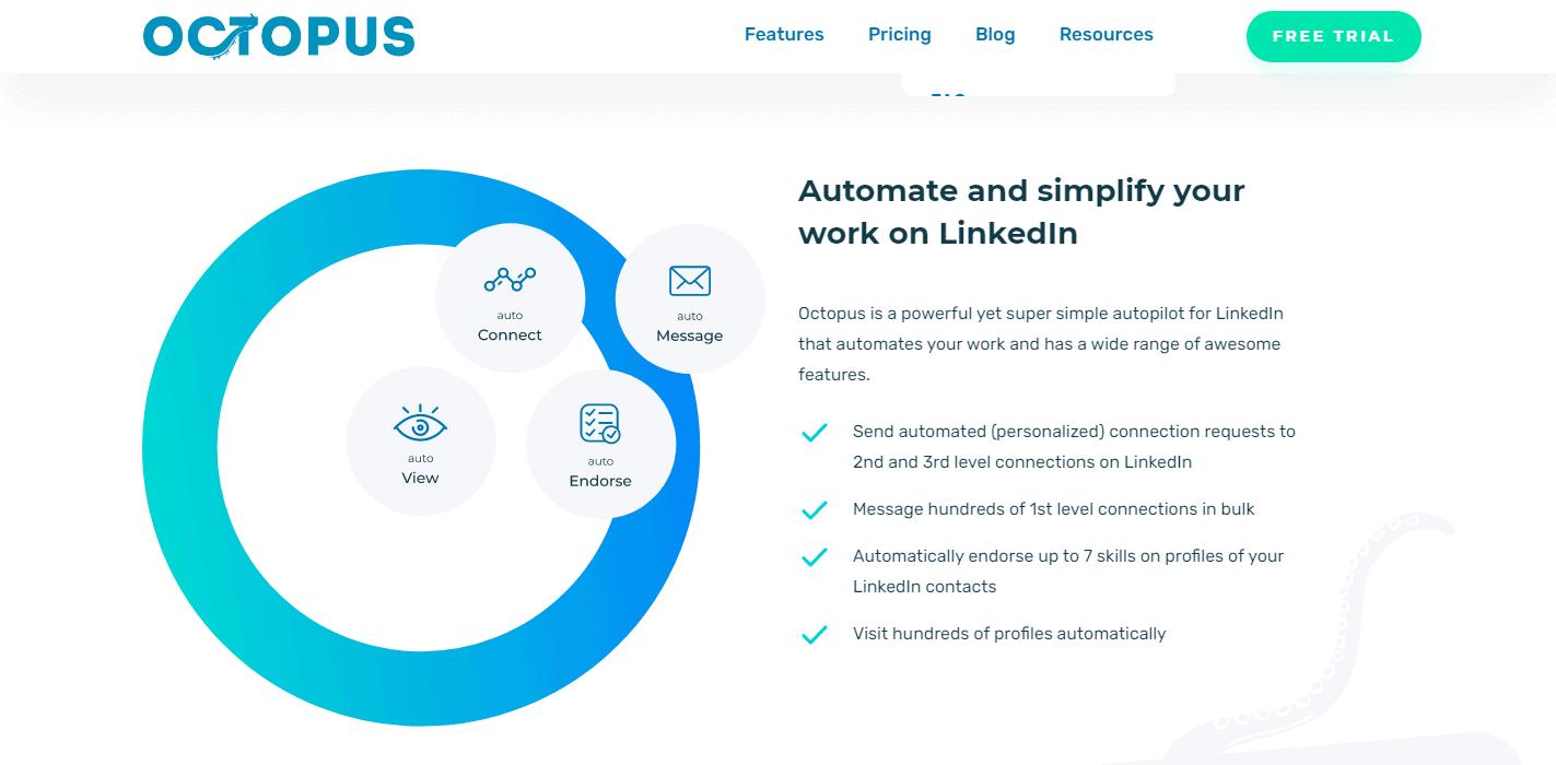 Octopus-CRM-Automate Simple Work on LinkedIn