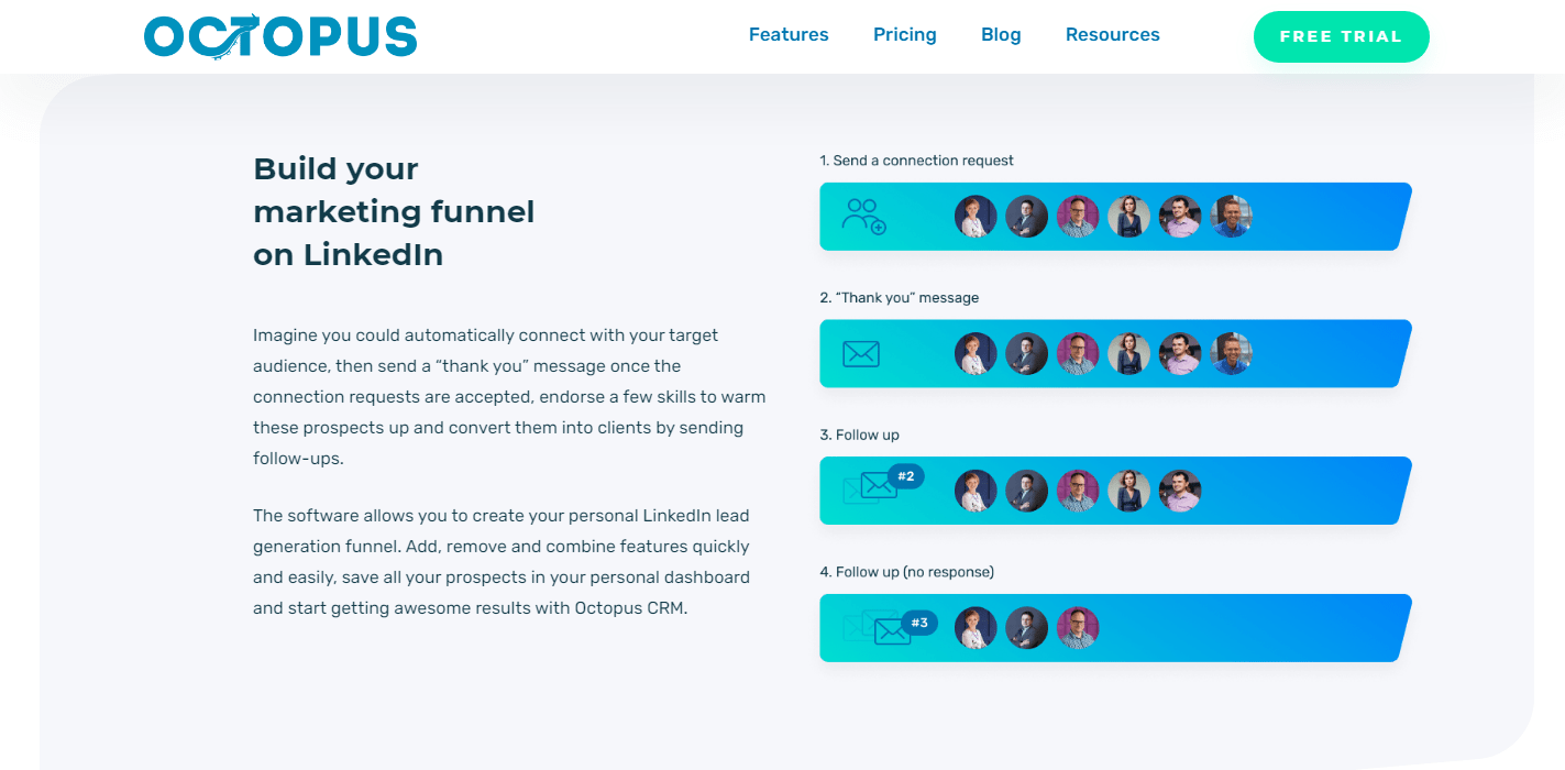 Octopus-CRM-Review - Build your marketing funnel on LinkedIn