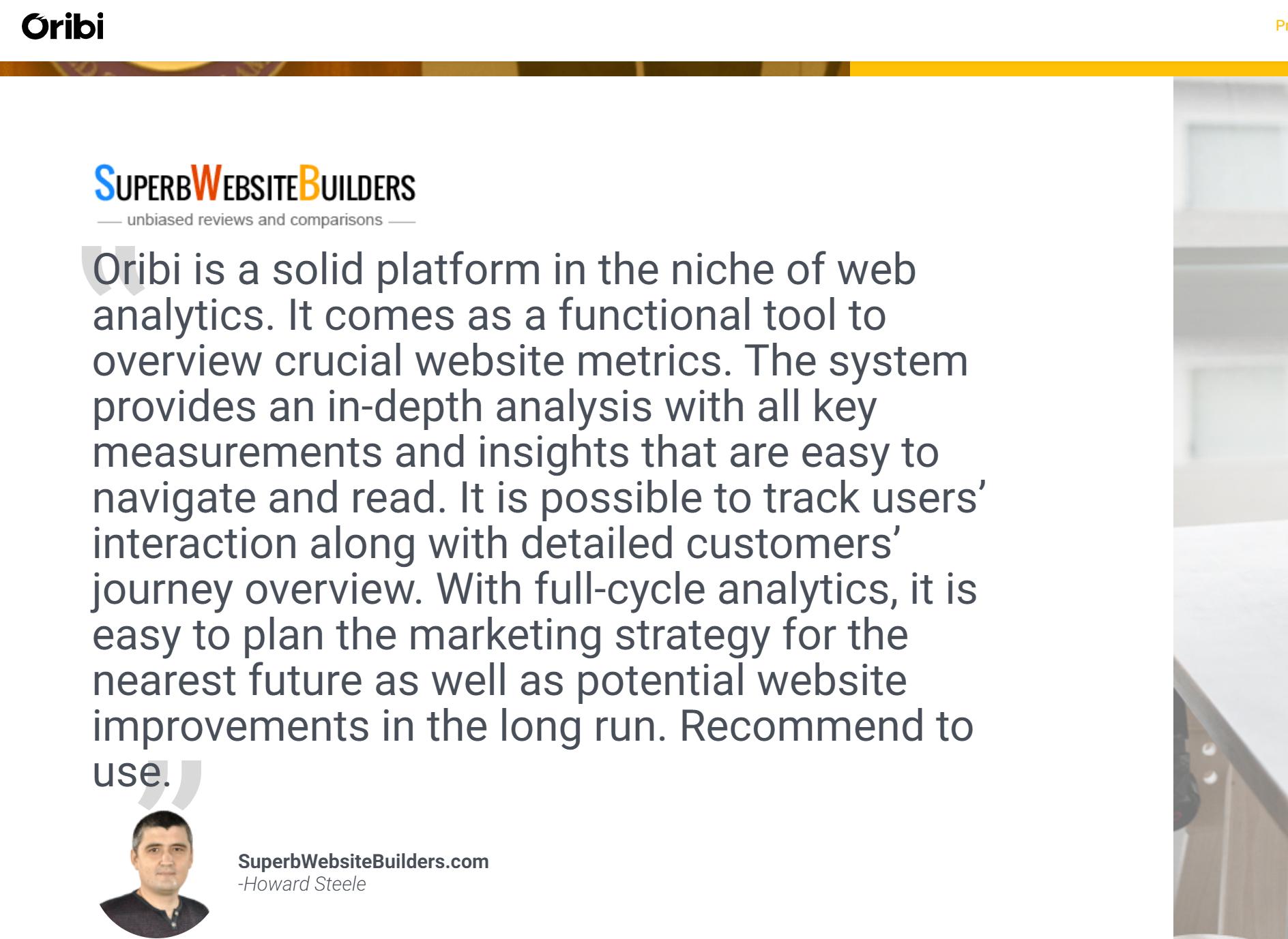 Oribi Analytics Review Pricing