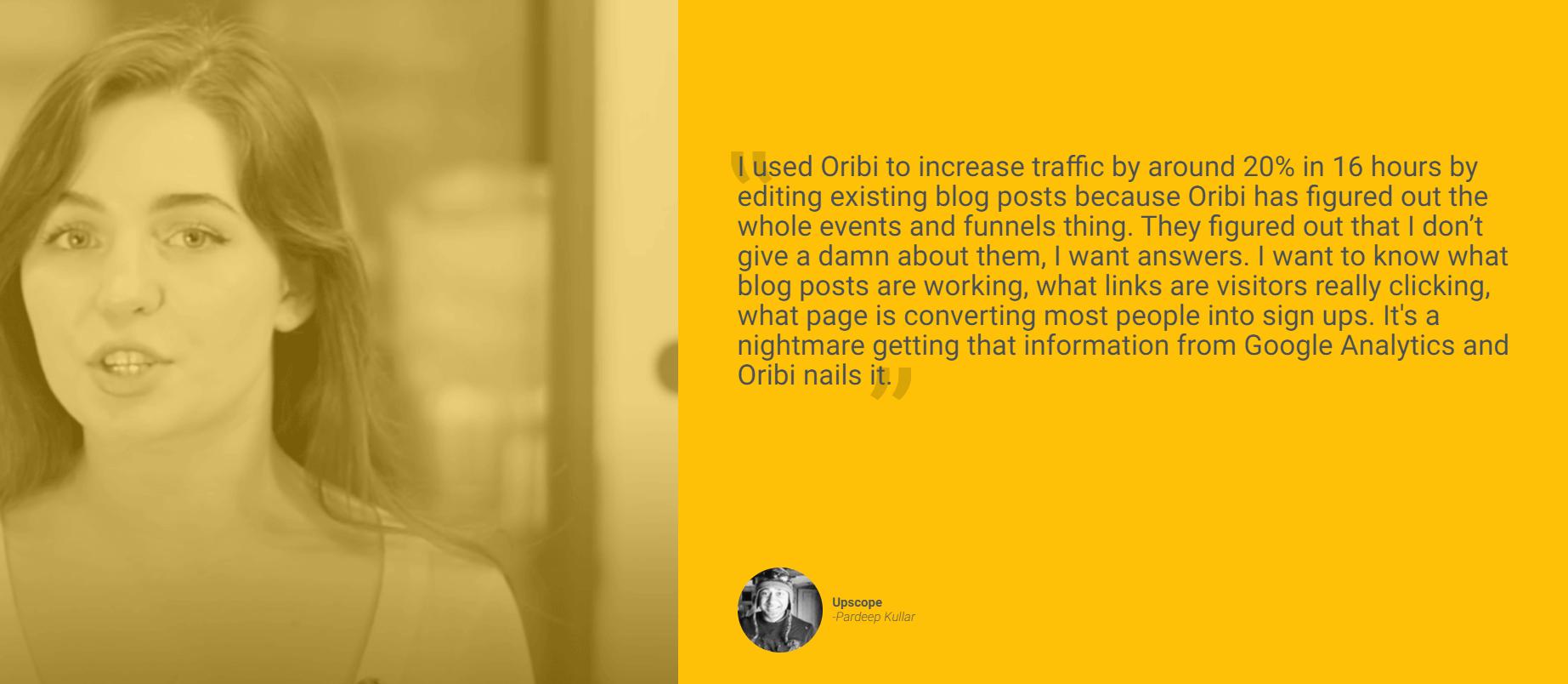 Oribi - Testimonials