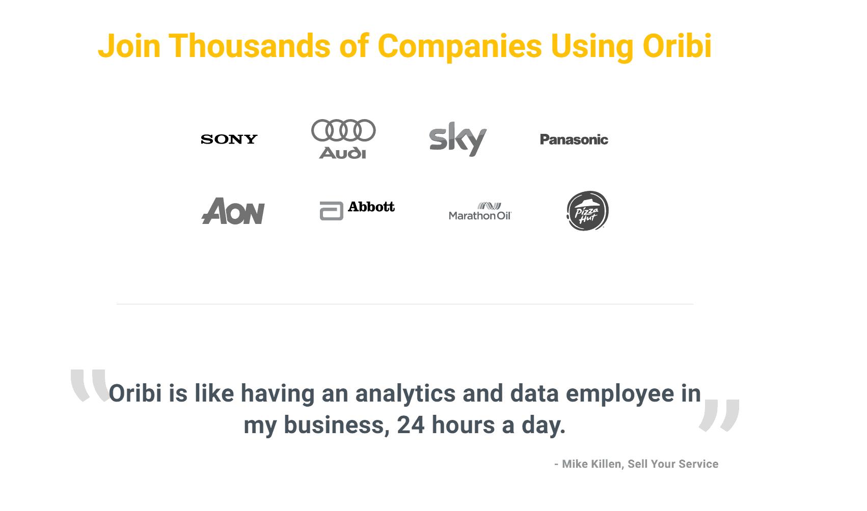 Oribi data analytics review