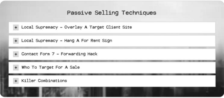 Passive Selling Techniques