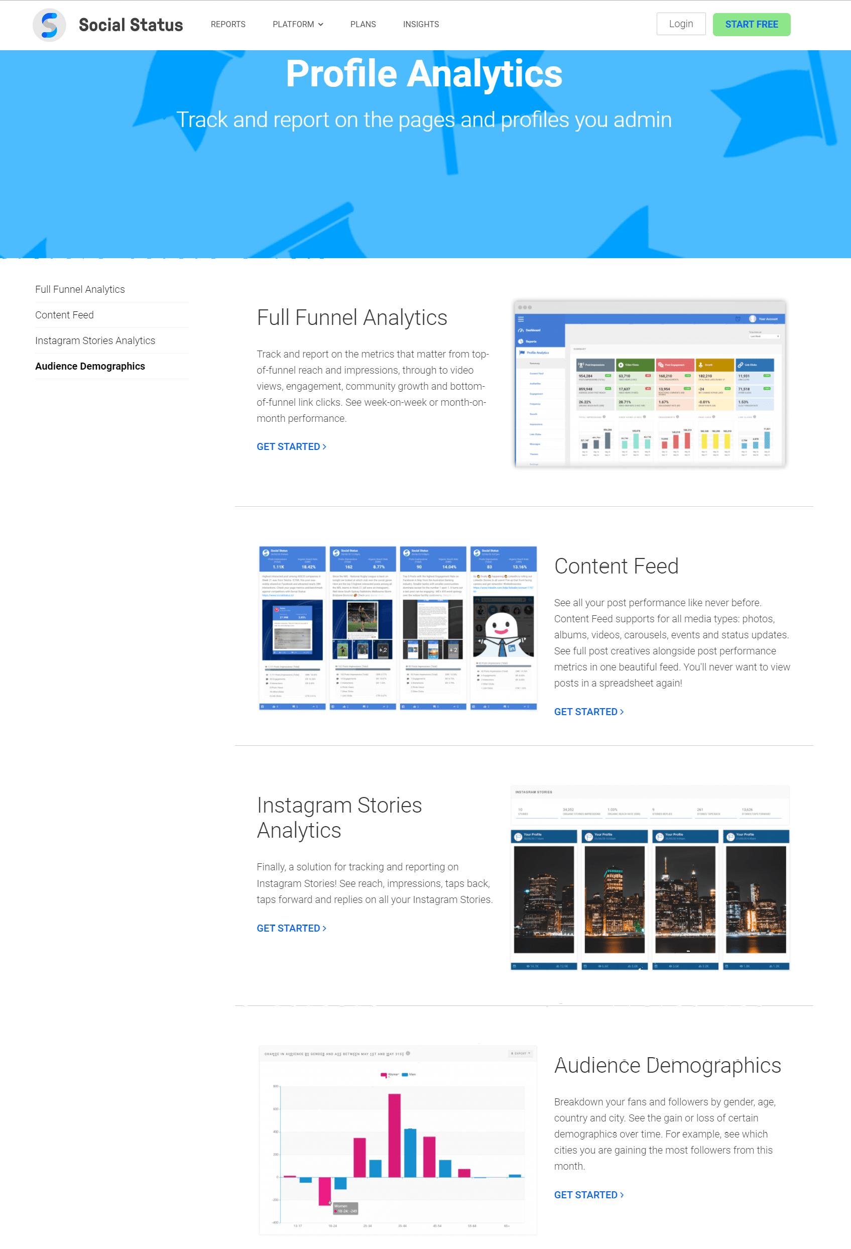 Profile Analytics- Social Status