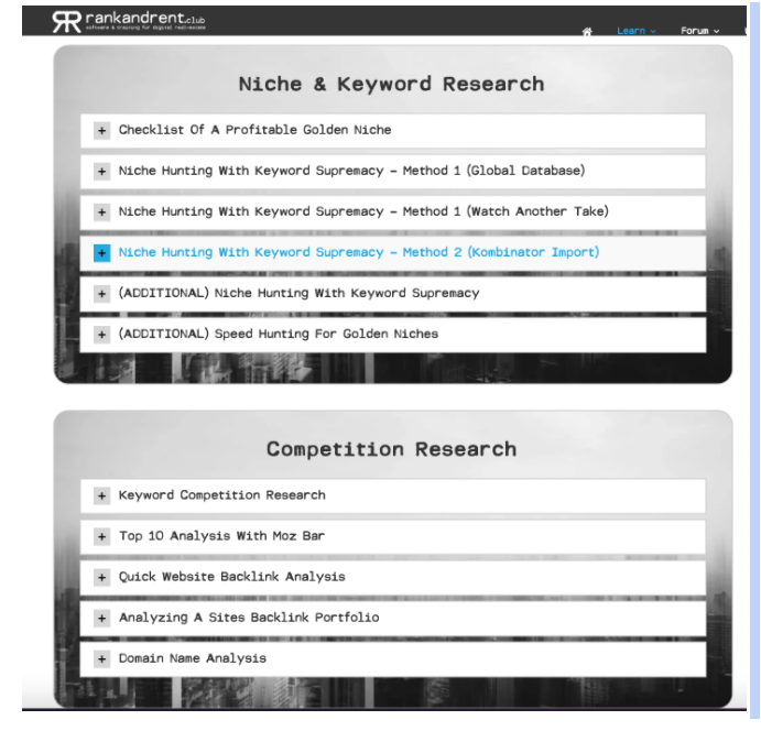 Niche & Keyword Research