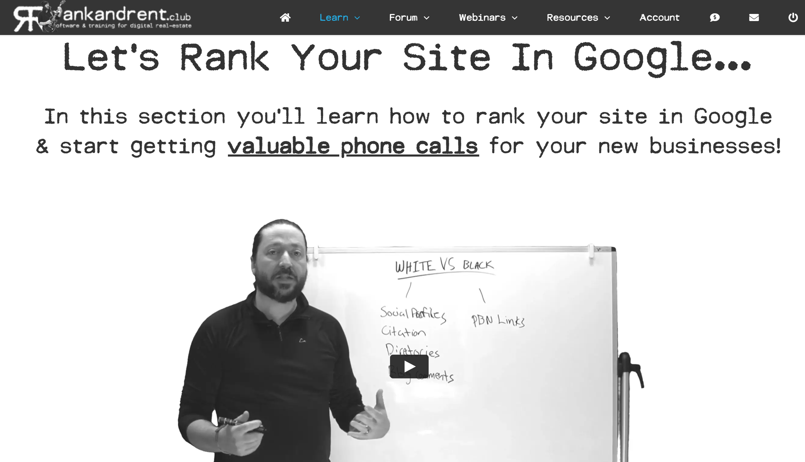 Rank and rent seo niches