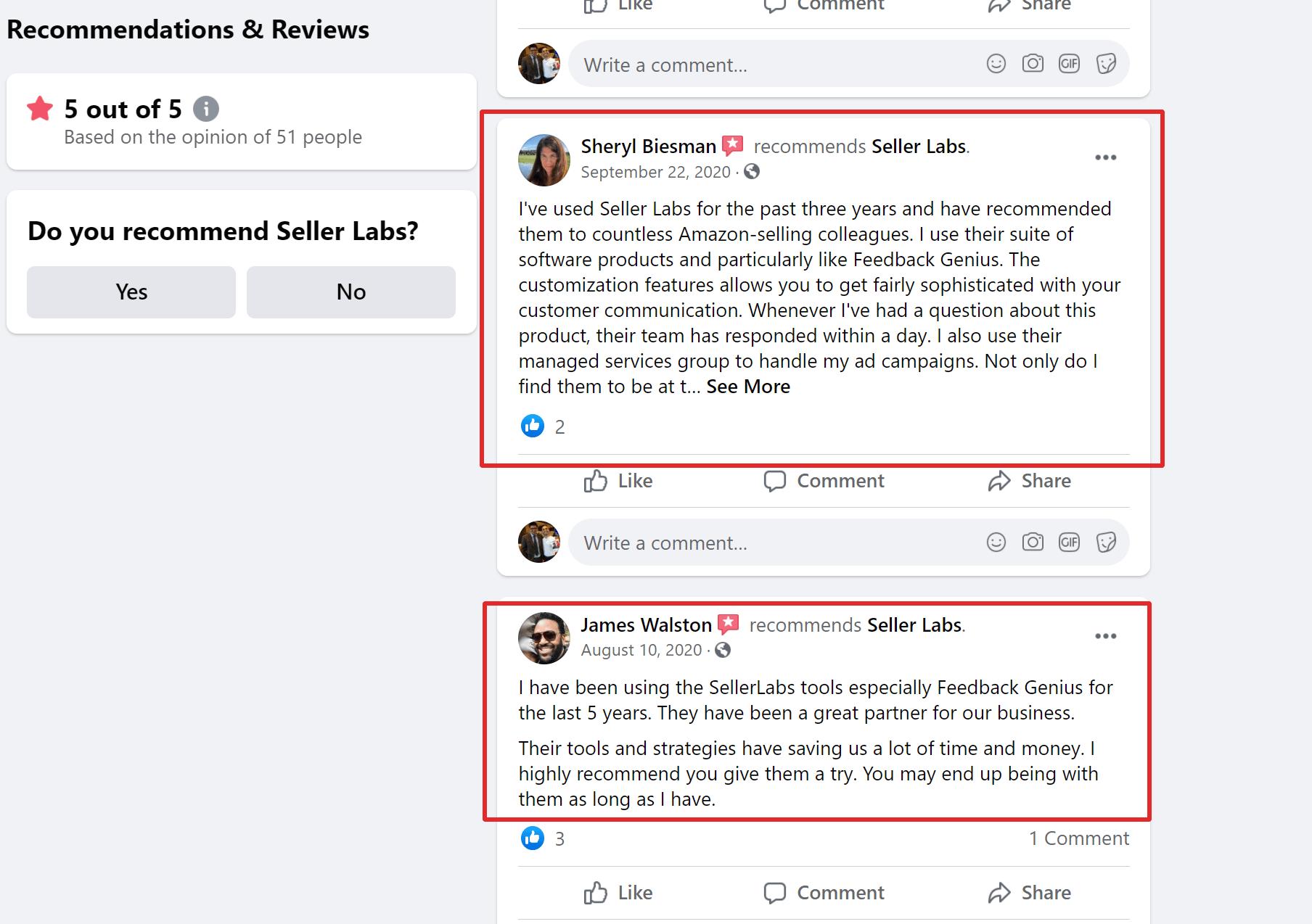 Seller labs customer reviews