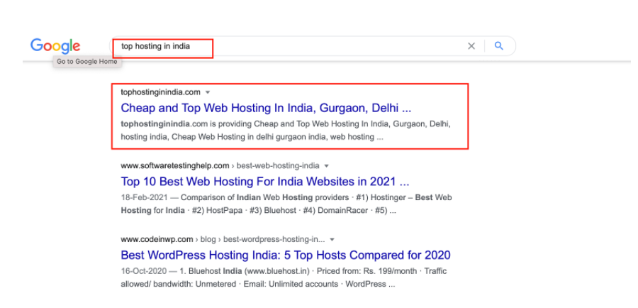 Top Hosting In India