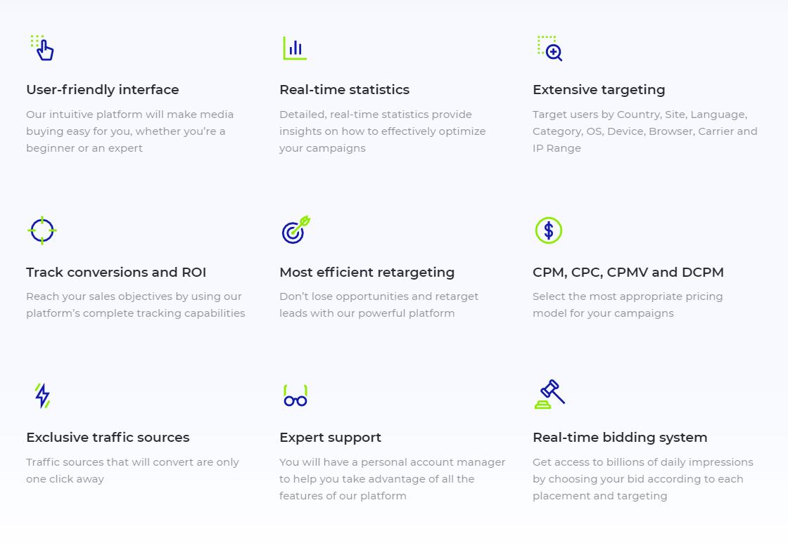 TrafficStars - Features