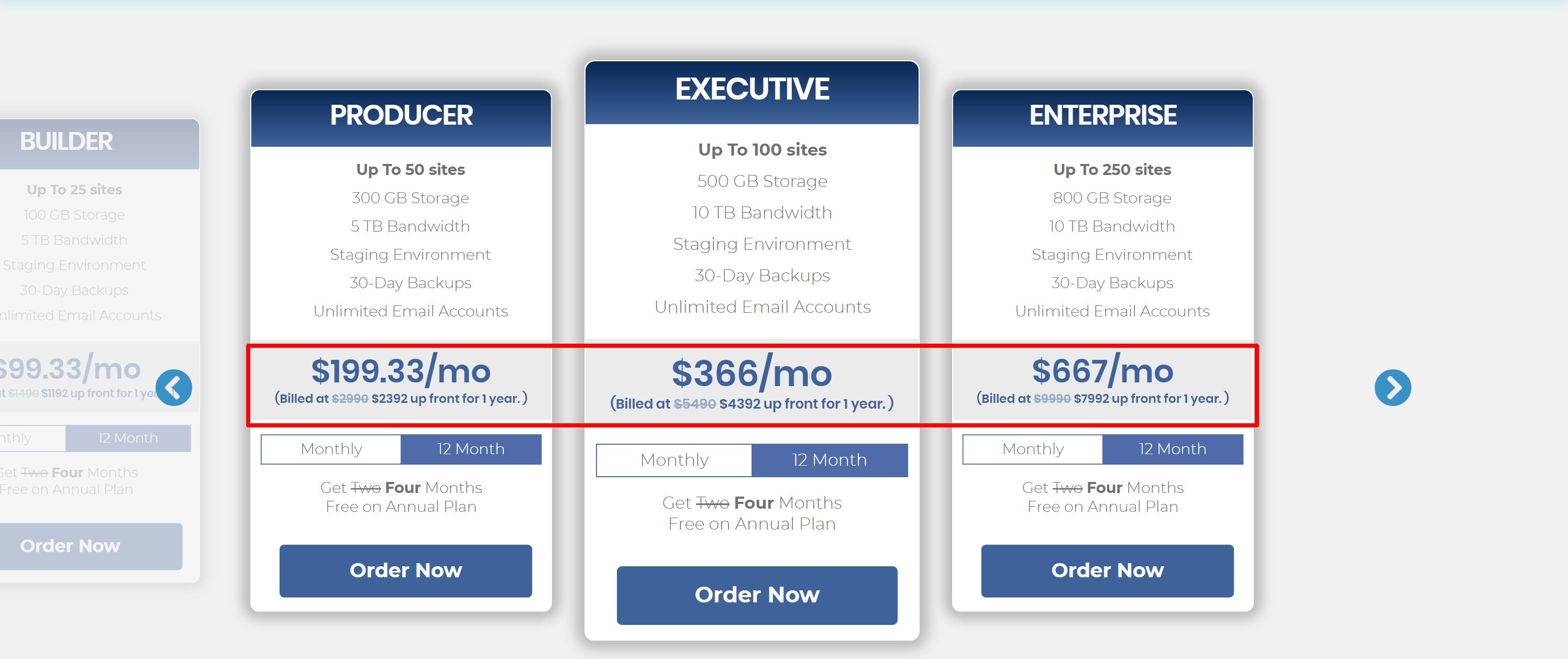 nexcess pricing plans