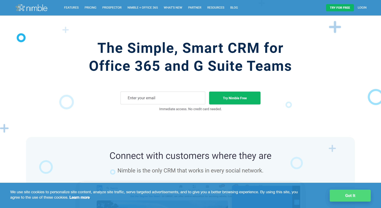 nimble crm- best agile crm alternatives