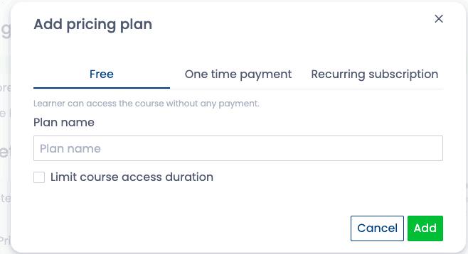 Add pricing plan foir Spayee- Podia vs Spayee