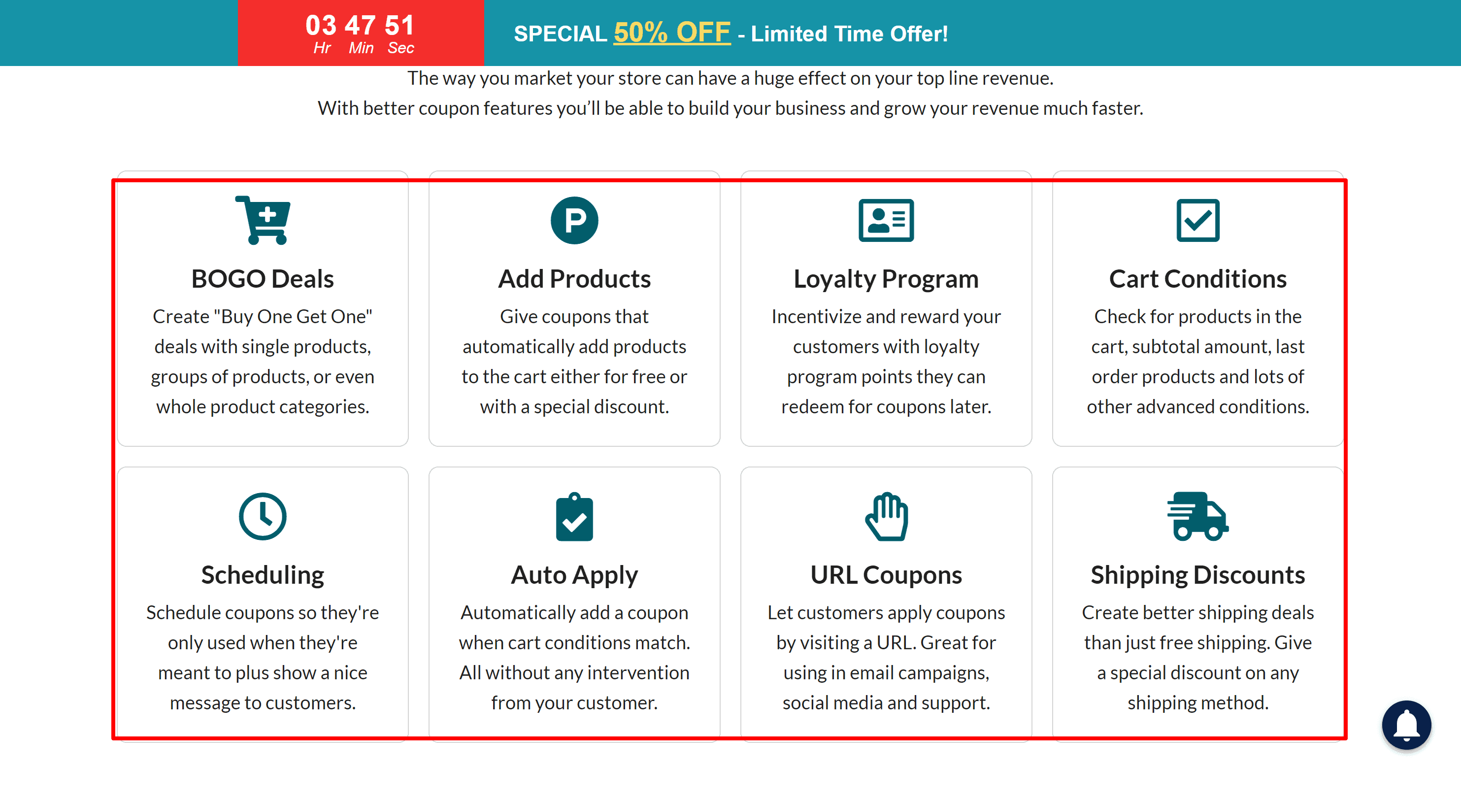 Advanced Coupons for woocmmerce features