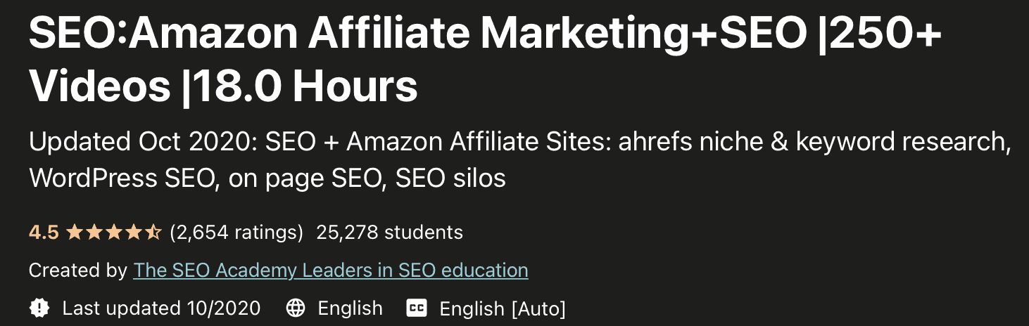 Amazon Affiliate marketing course for beginners