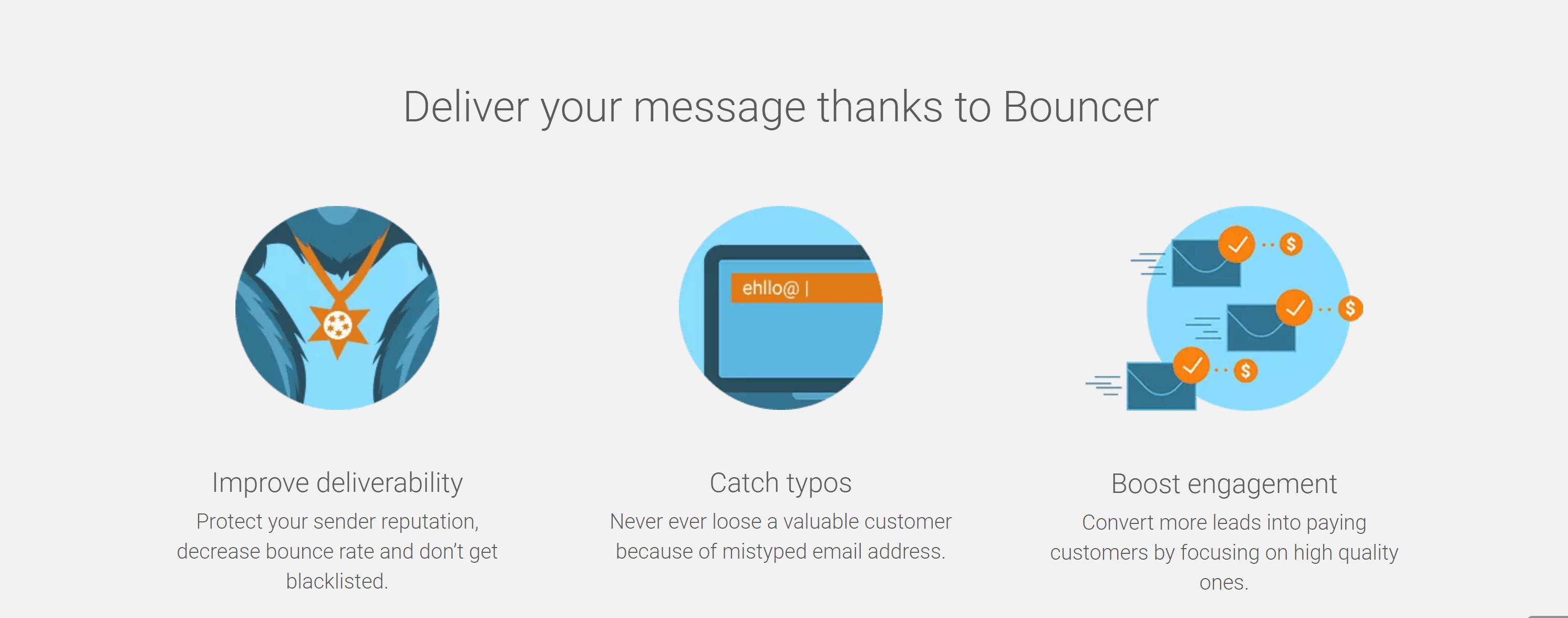 Bouncer benefits- bouncer email verification review