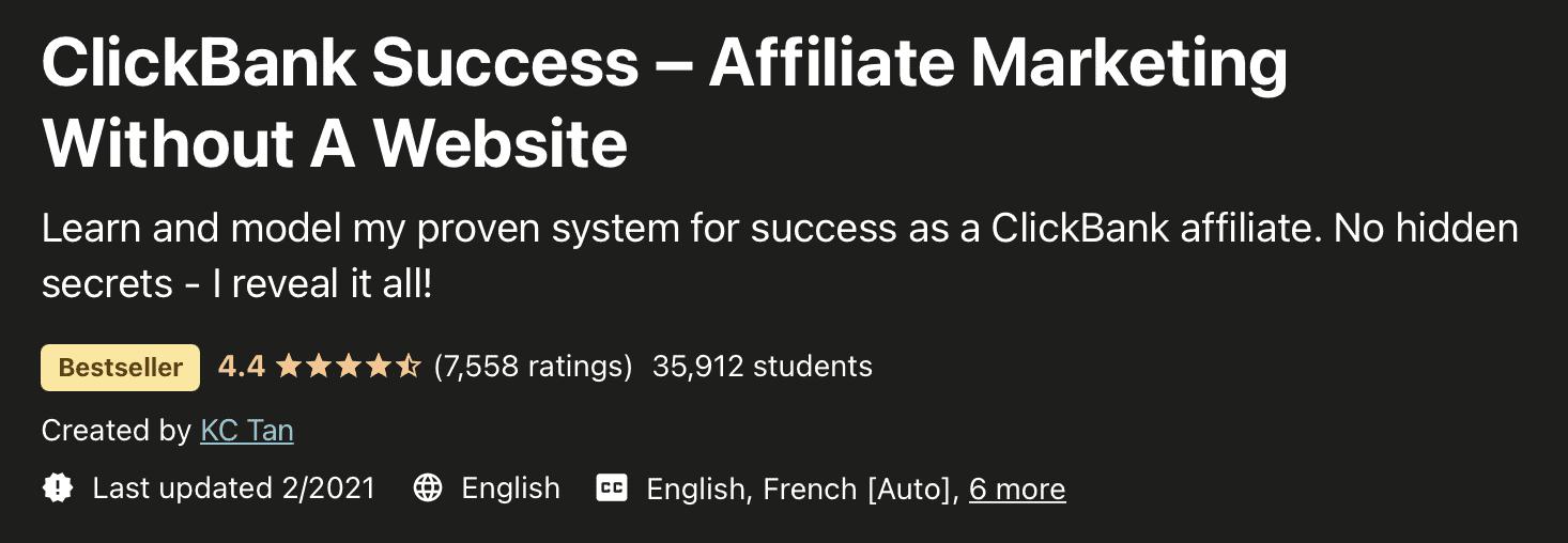 Clickbank success- Best affiliate marketing courses