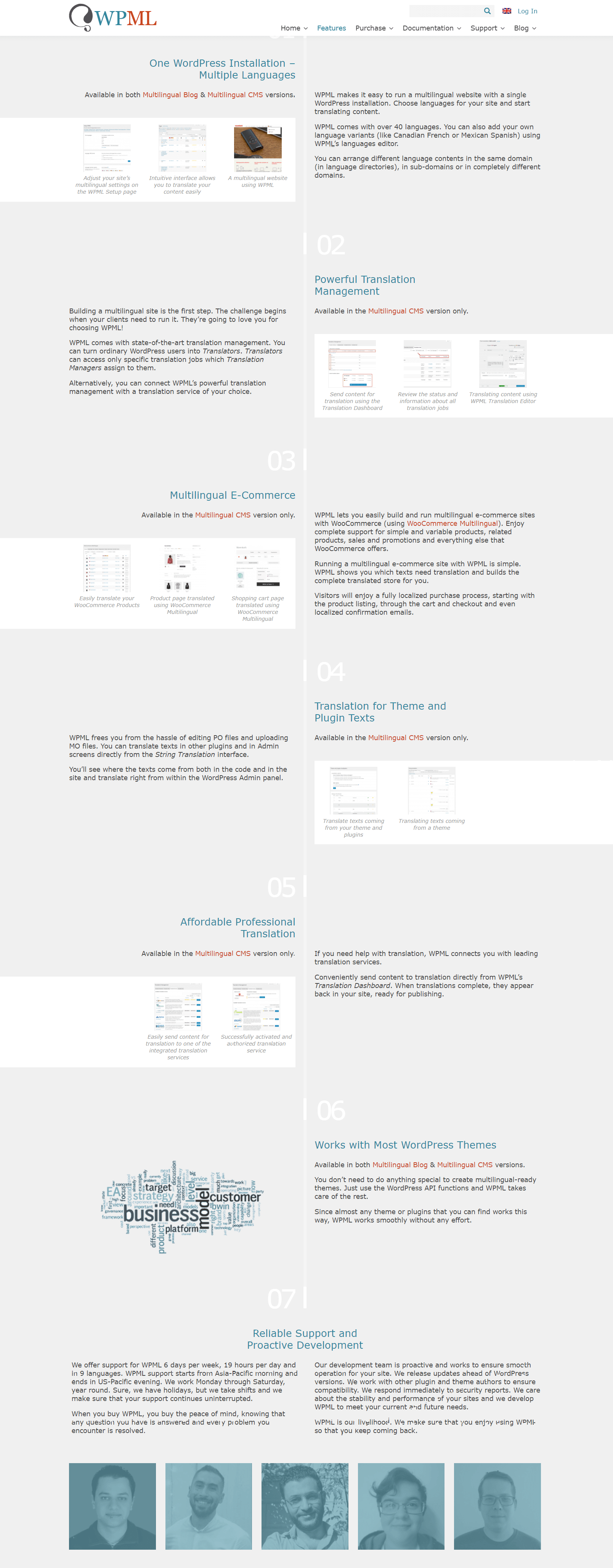 WPML Features - Weglot vs WPML