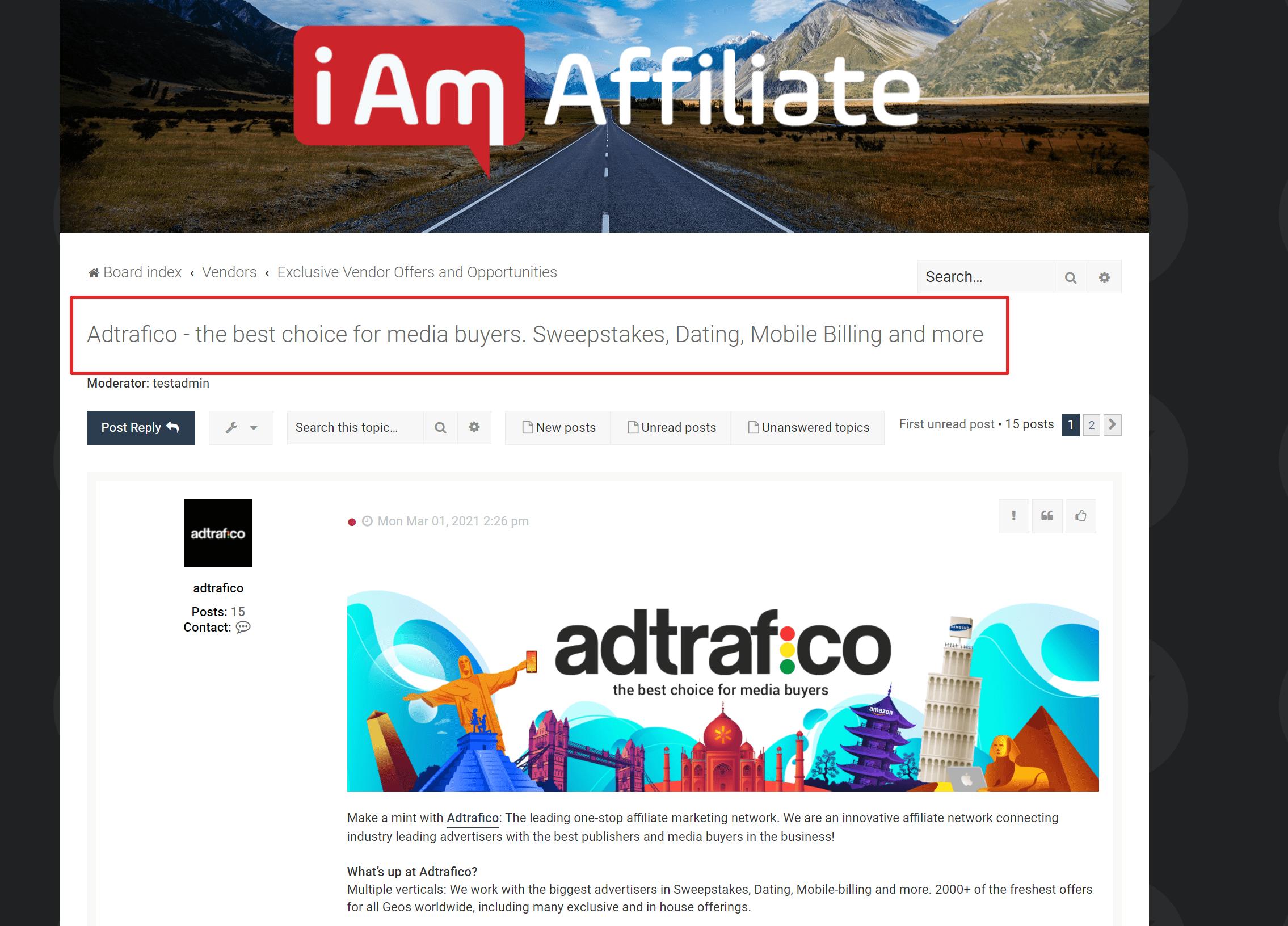 Iamaffiliate Atilla forum