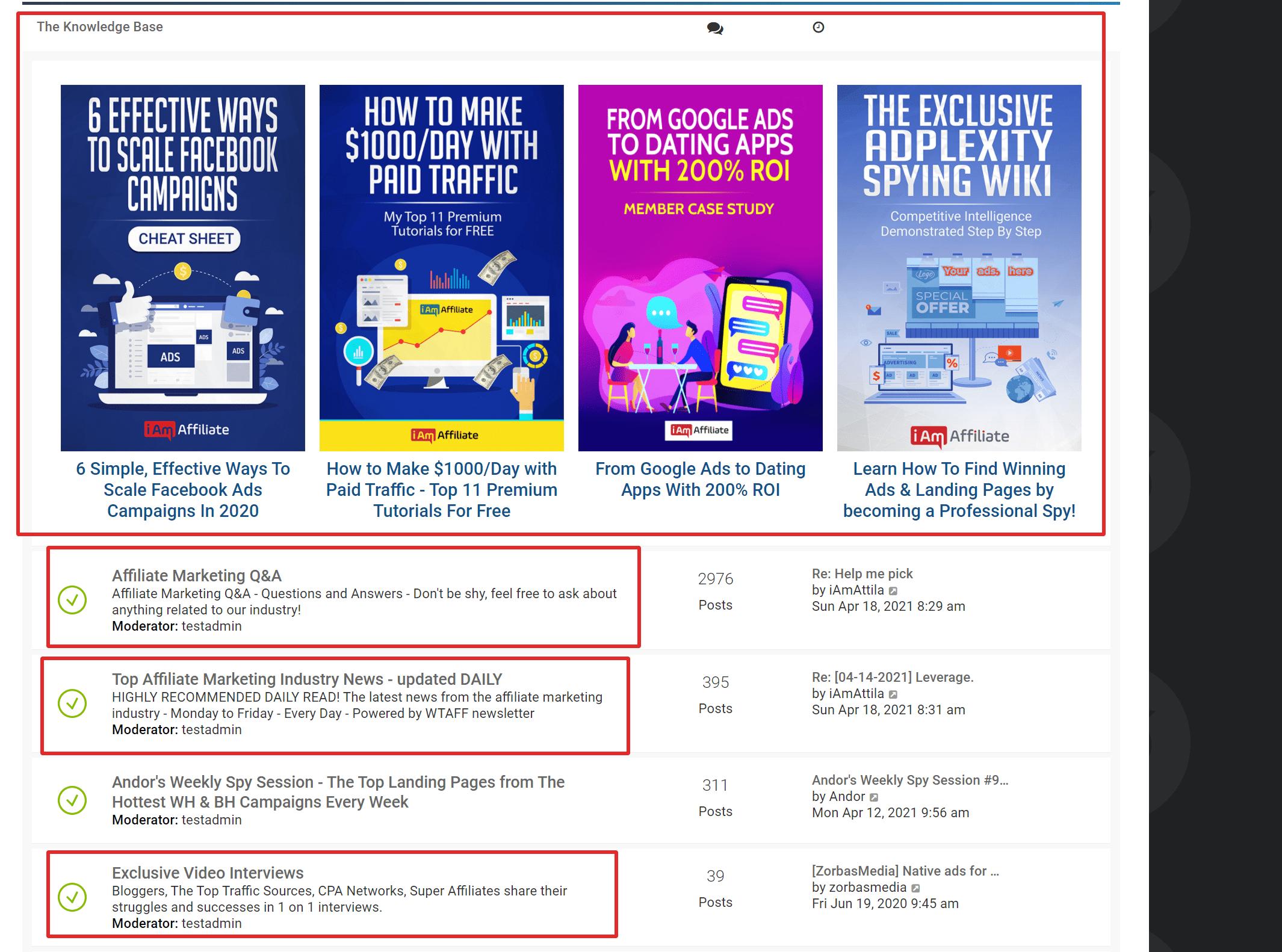 Iamaffiliate best affiliate marketing forum