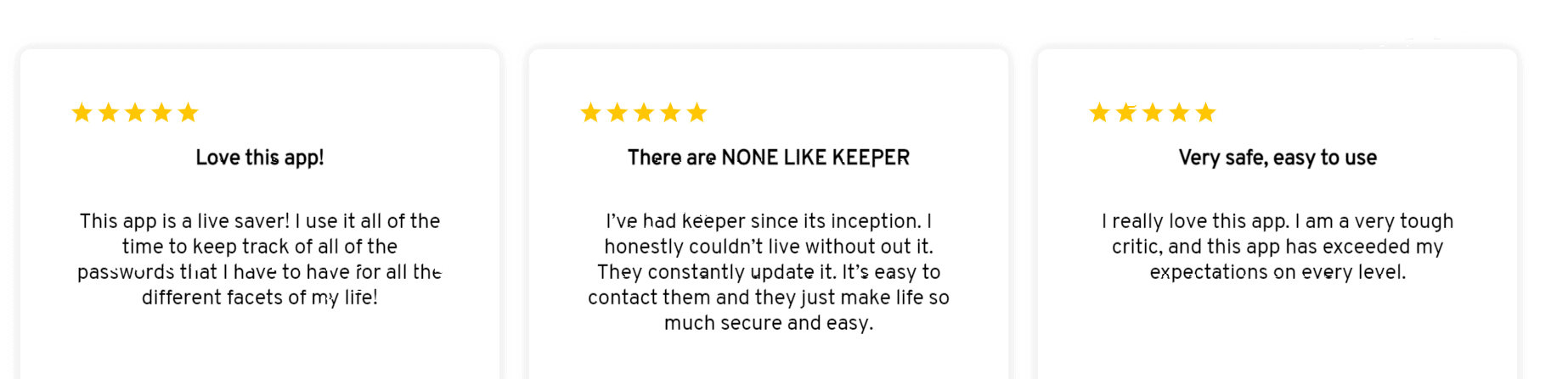 Keeper Unlimited Customer reviews