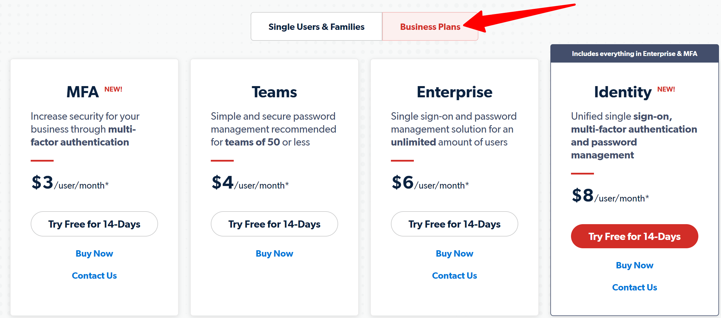 Lastpass business pricing plans- lastpass password manager review