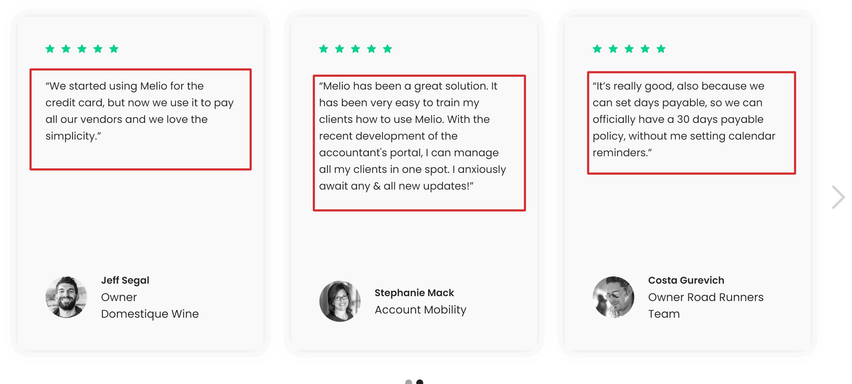 Melio trustpilot Reviews
