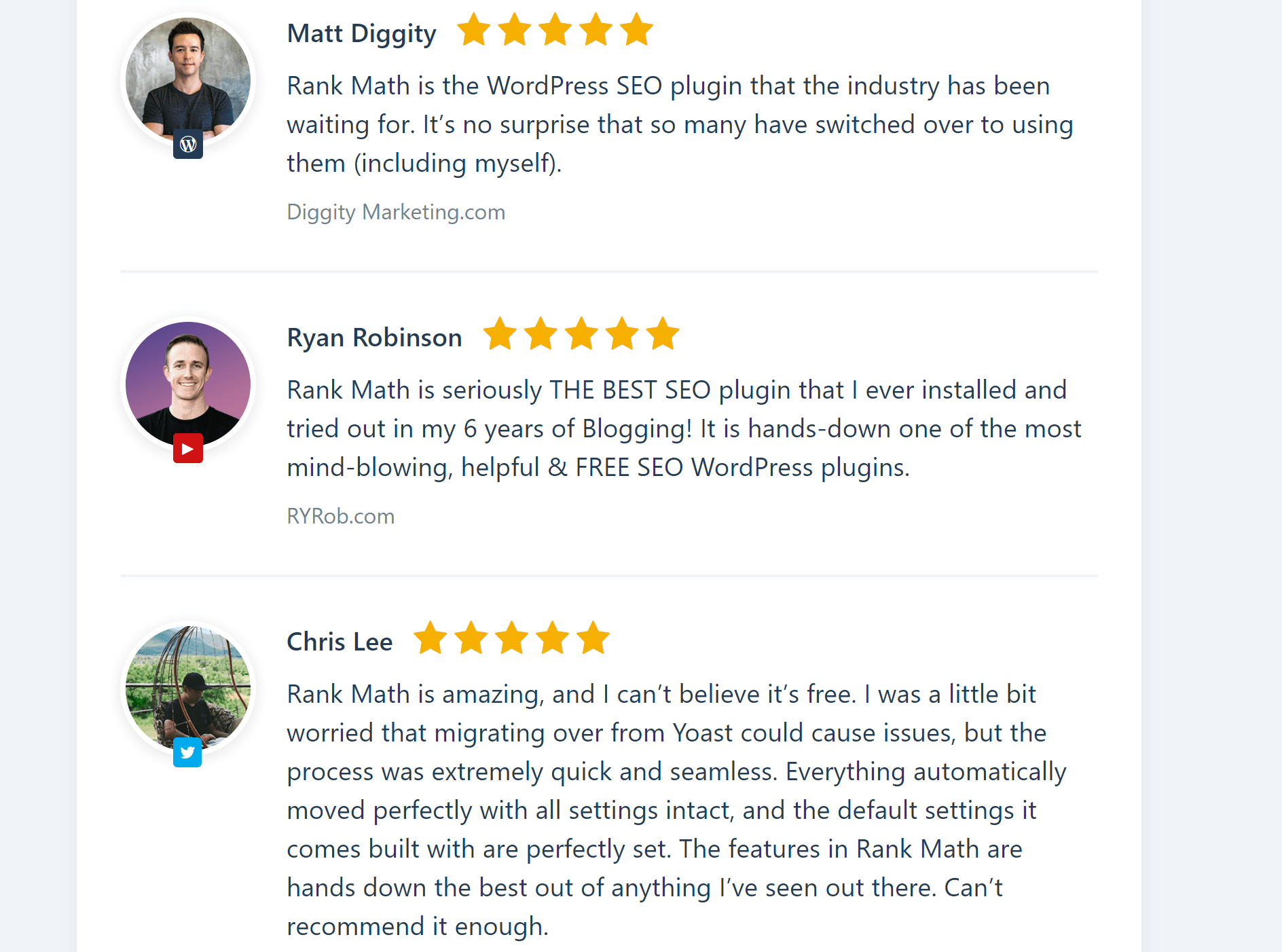 Rank Math SEO reviews