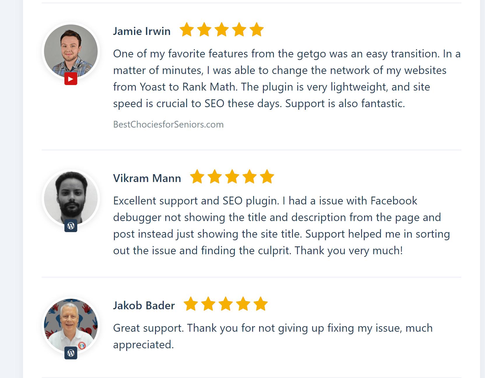 Rank math SEO vs Yoast SEO Reviews