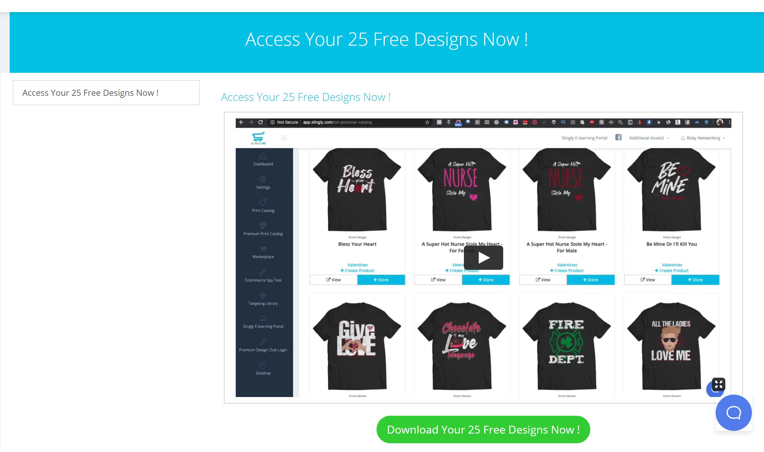 Slingly designs free