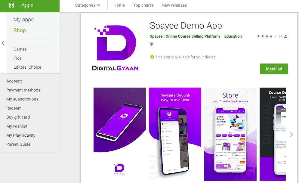Spayee demo app- Spayee vs Podia review