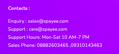 Spayee support-Spayee Review