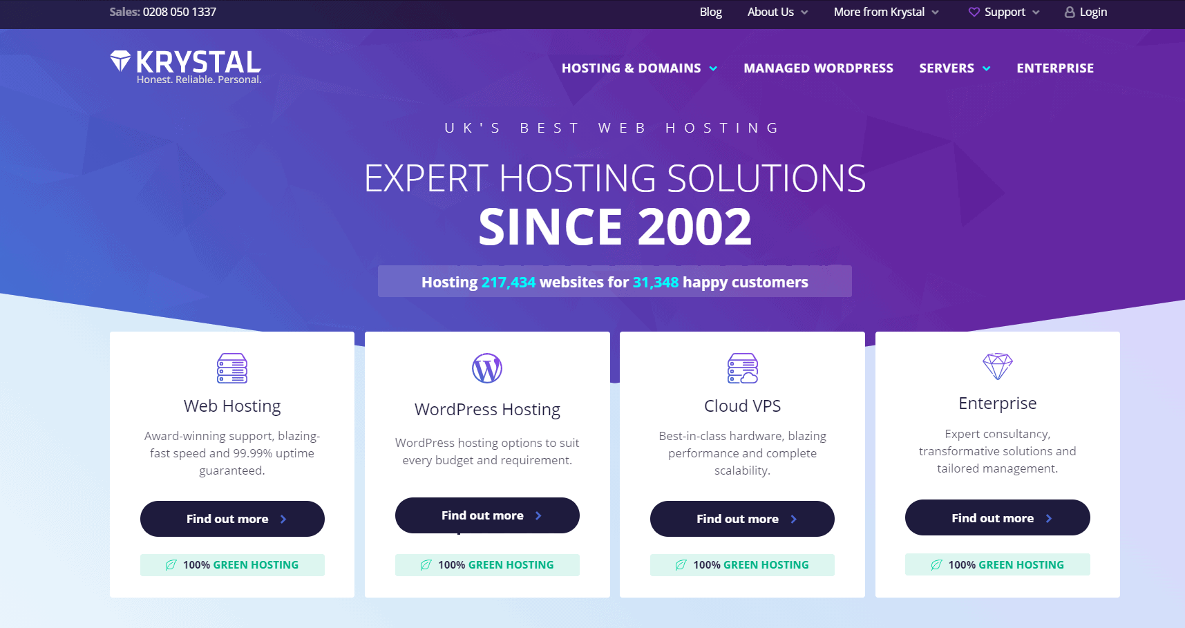 Krystal Web hosting - Alternatives