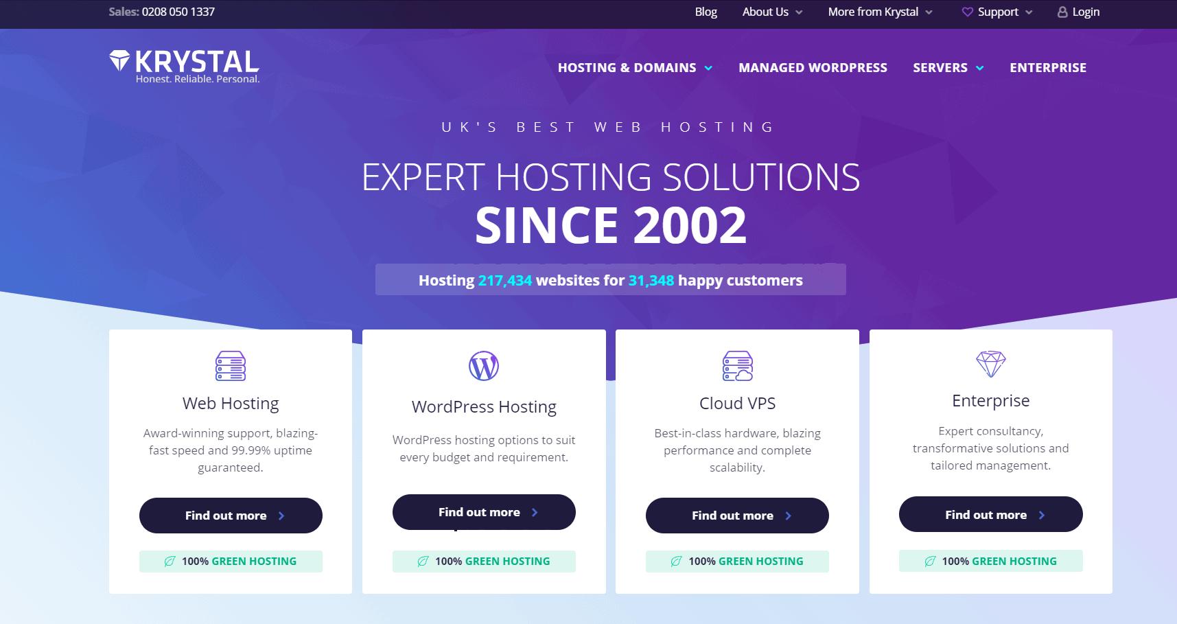 Krystal Web hosting - Alternatives