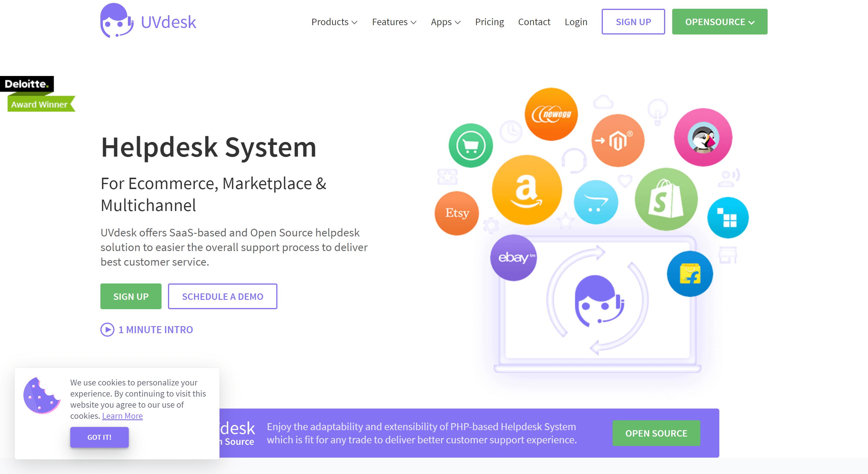 UVDesk- shopify customer apps