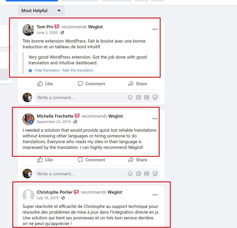 Weglot customer reviews