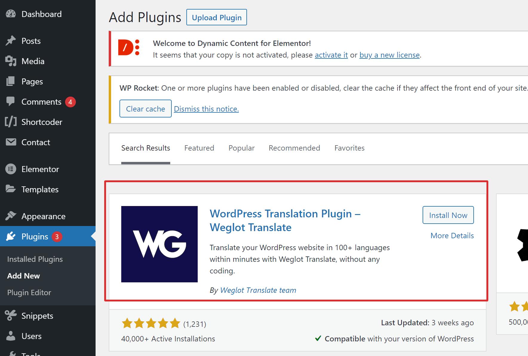 Weglot plugin download
