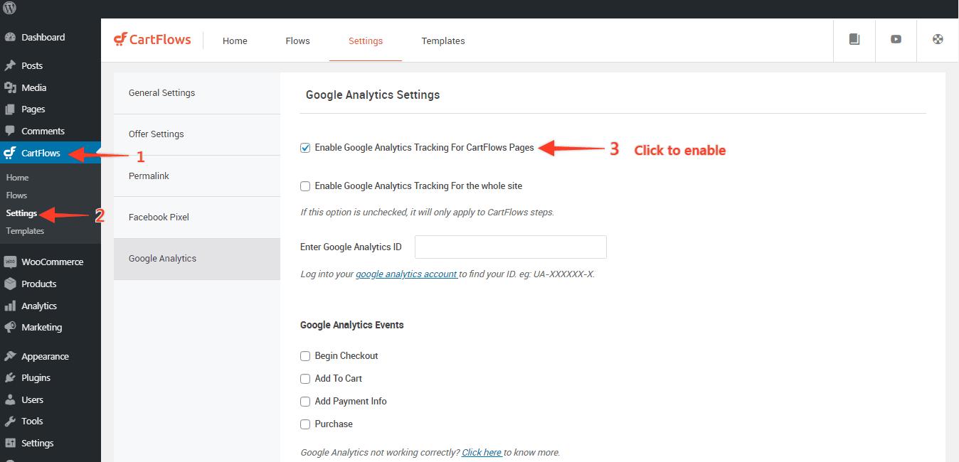 cartflows-setting-page GA1