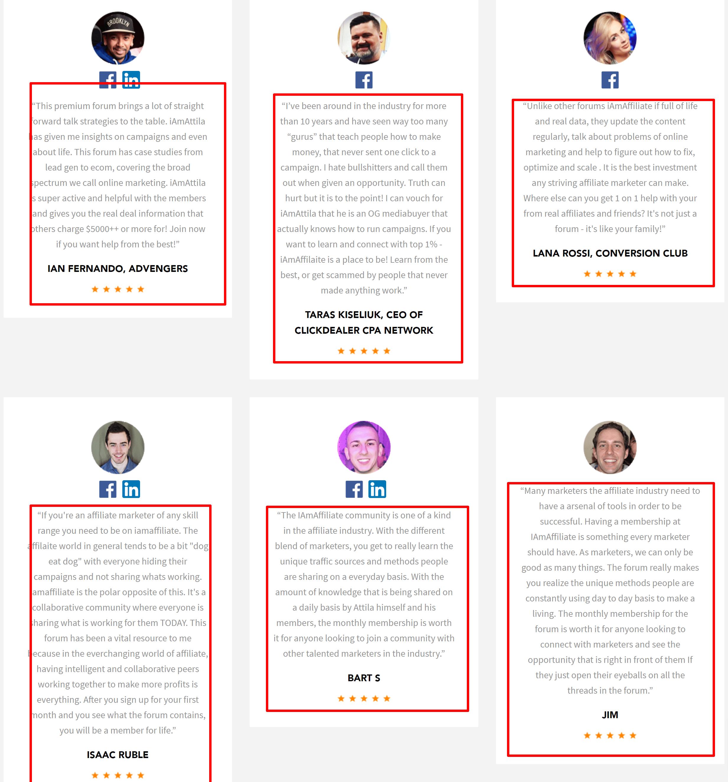 iAmAffiliate reviews and testimonials