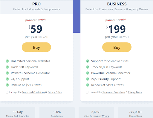 pricing rankmath- Rank Math review