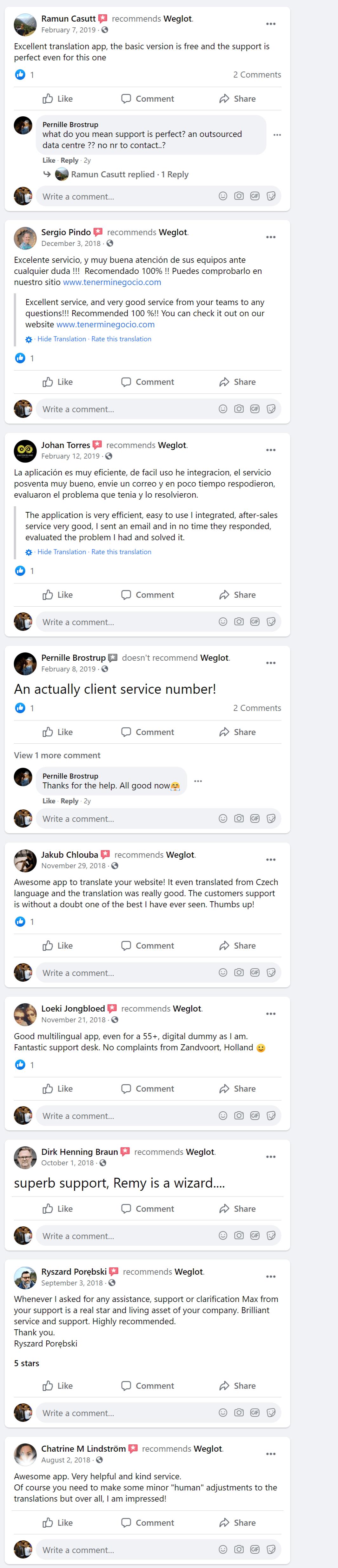 weglot customer support reviews