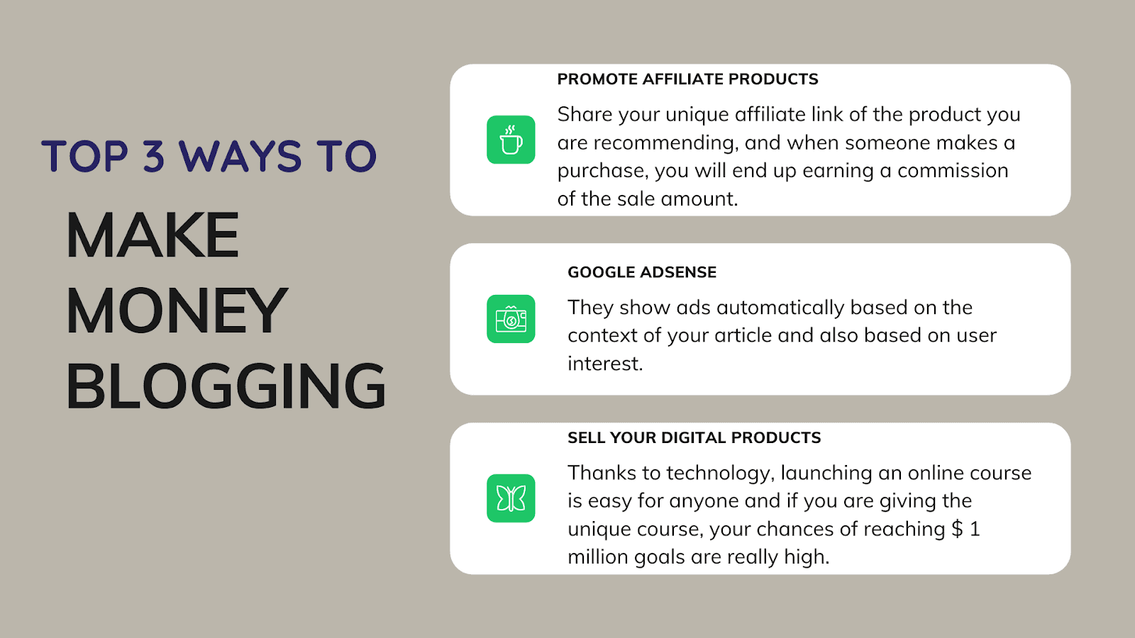 Blooging-earn money by top 3 Ways