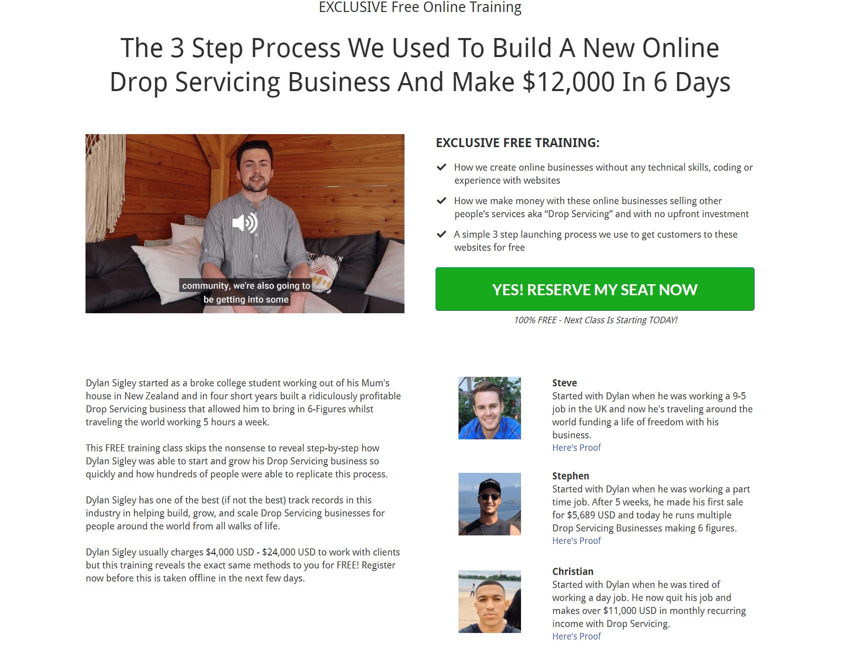 Drop Servicing Blueprint Overview