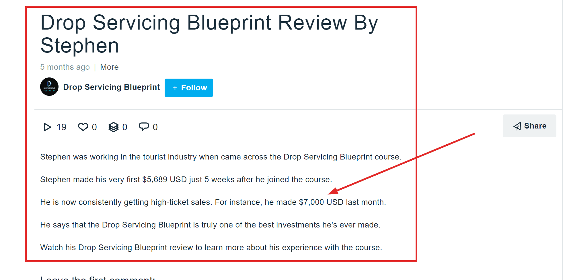 Drop Servicing Blueprint By Dylan