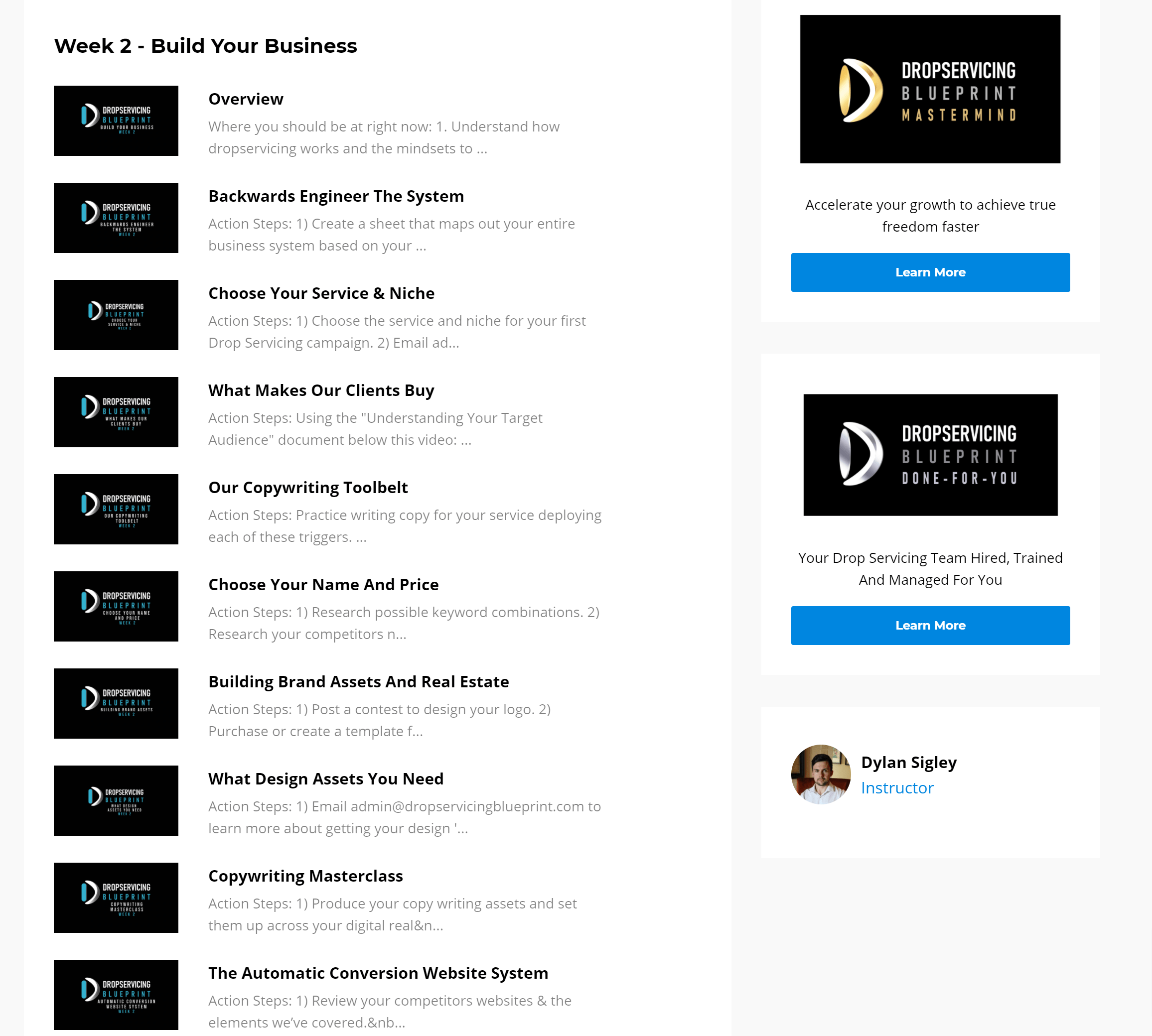 Drop Servicing Blueprint reviews online