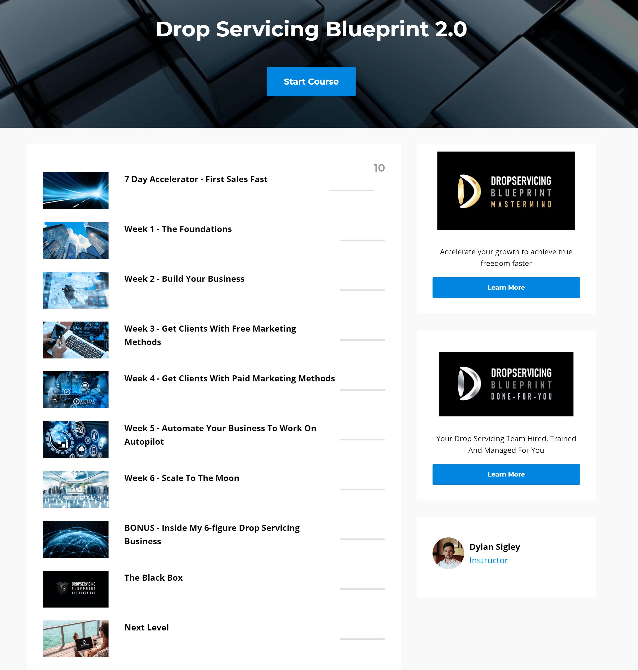 Drop Servicing Blueprint reviews