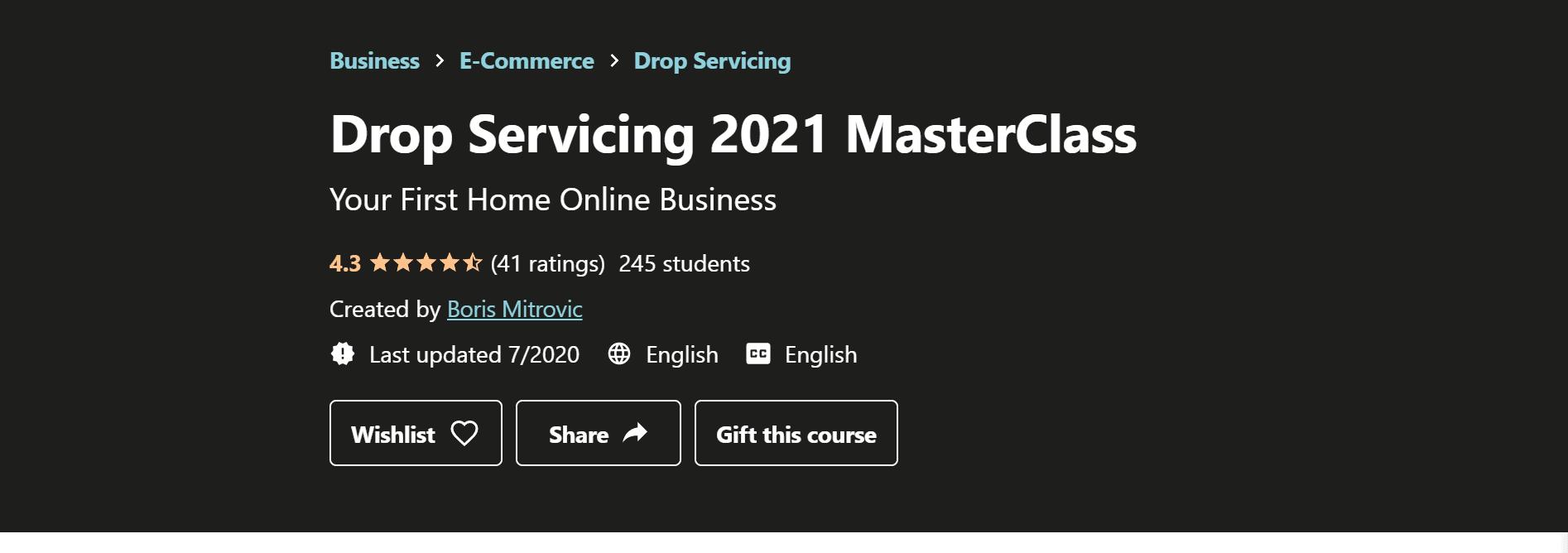 Drop servicing masterclass- best courses for drop service